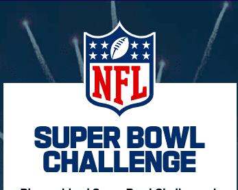 Concurso NFL Super Bowl Challenge 2021: Gana premios de la NFL en superbowlchallenge.es