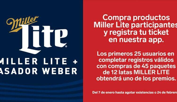 Promo 7-Eleven Miller Lite 2021: Gana un asador Weber + bufanda