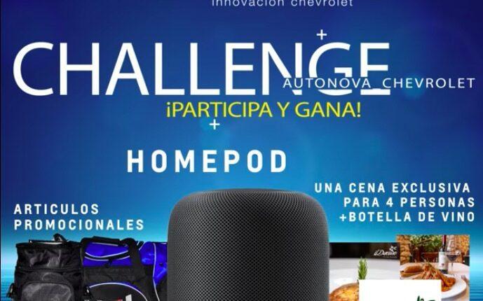 Challenge Chevrolet Autonova 2021: Gana Homepod, cena para 2 y más
