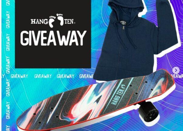 Giveaway Hang Ten: Gana una patineta y una sudadera