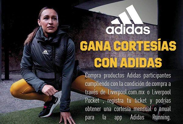 Gana cortesías mensuales o anuales para la app Adidas Running con Liverpool