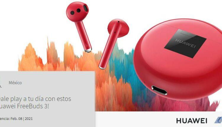 Gana unos audífonos Huawei FreeBuds 3 cortesía de Huawei y Telcel
