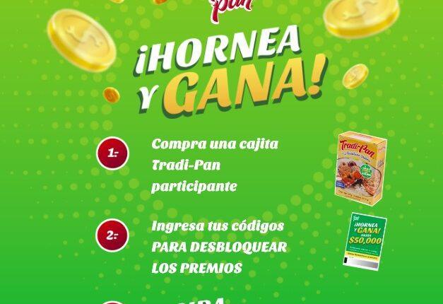 Promoción Tradi Pan Hornea y Gana: registra tu código en tradipan.com.mx y gana hasta $50,000
