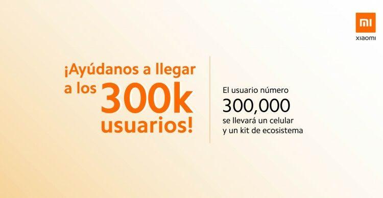 Xiaomi Mi Community 300k fans: Gana un celular Xiaomi
