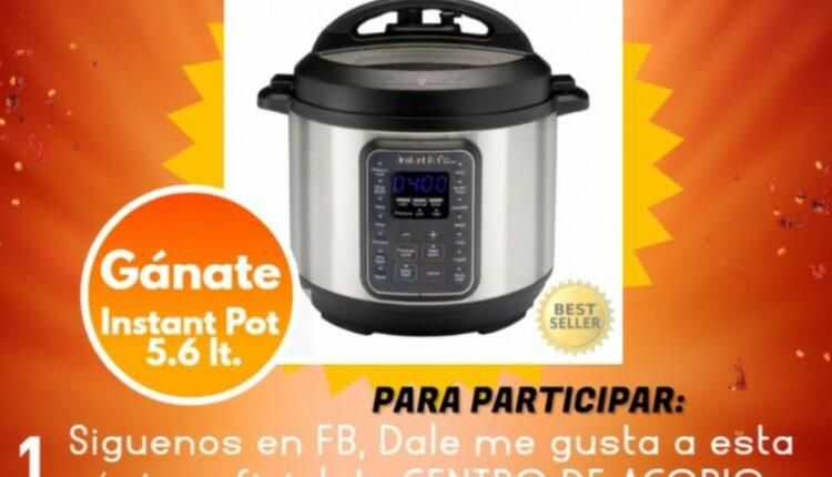Gana una olla de cocina Instant Pot en el  giveaway del Centro de Acopio Oscar Salazar