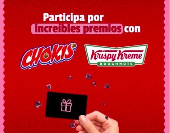 Concurso Chokis Krispy Kreme: Gana monederos Amazon de $1,000 pesos