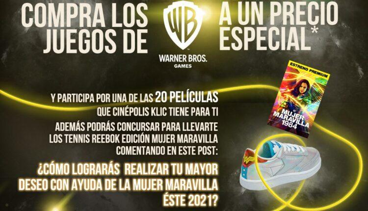 Concurso Warner Bros. Games: Gana película y tenis de la Mujer Maravilla