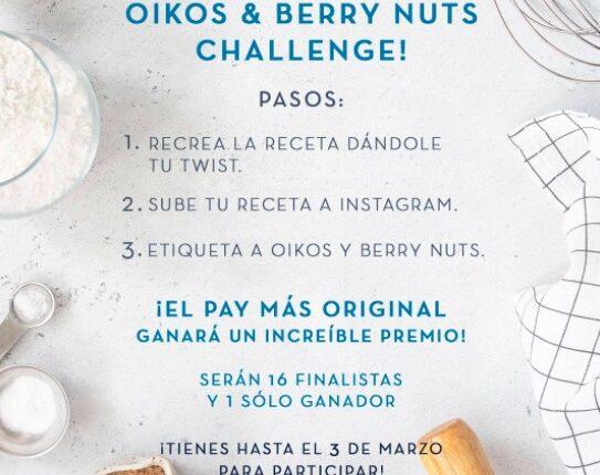 Reto Oikos & Berry Nuts Challenge: Gana una batidora KitchenAid y más