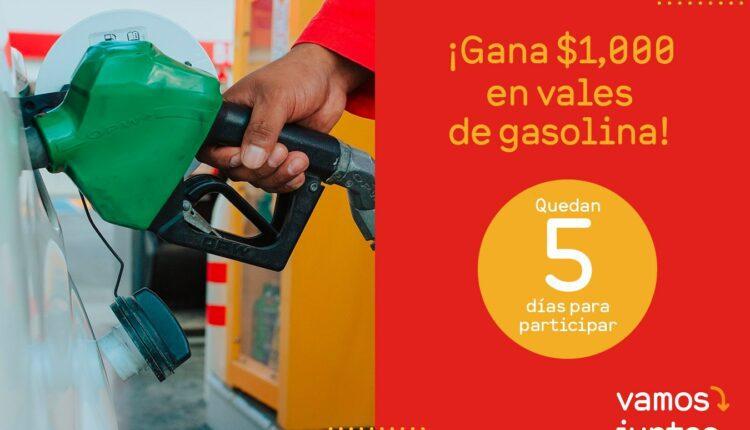 Promoción Oxxo Gas: Gana $1,000 pesos en vales de gasolina en vamosjuntospormas.com