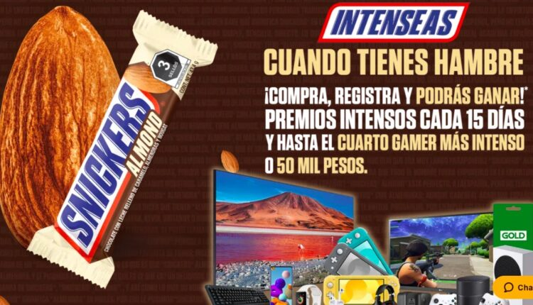 Promoción Snickers Almond: Gana hasta $50,000 y muchos premios más en snickersalmond.com.mx