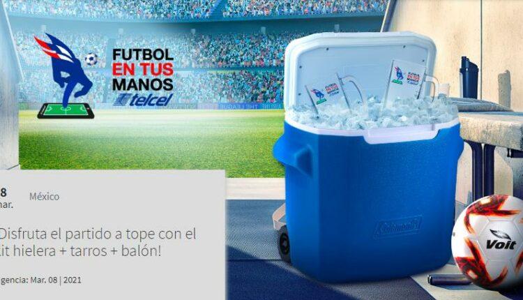 Concurso Futbol en tus Manos Telcel: Gana kit futbolero con hielera + tarros + balón