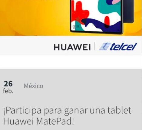 Gana una tablet Huawei MatePad cortesía de Telce