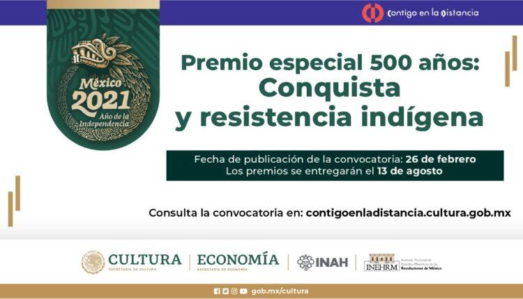 Premio Especial 500 Años Conquista y Resistencia Indígena otorga de $50,000 a $100,000