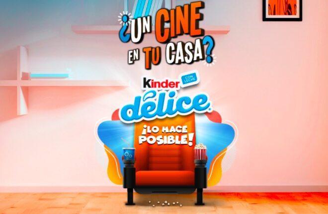Promoción Kinder Delice 2021: Registra tu código y gana teatros en casa y más en kinder.com