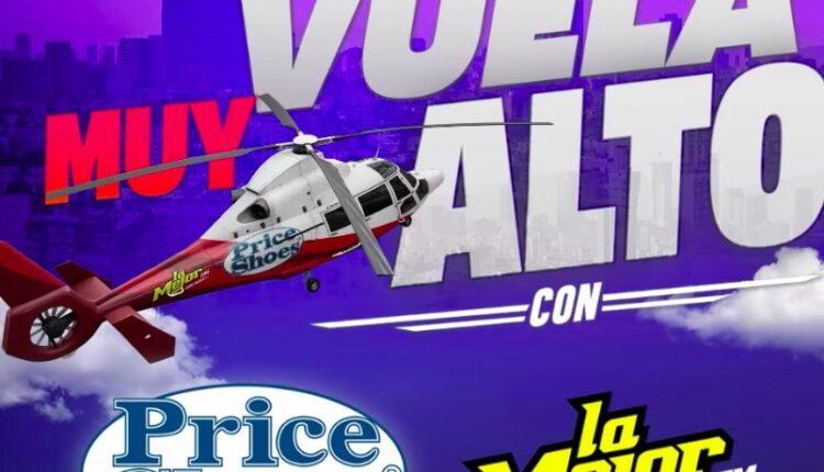 Concurso Price Shoes y La Mejor FM: Gana un viaje en helicóptero con El Bebeto