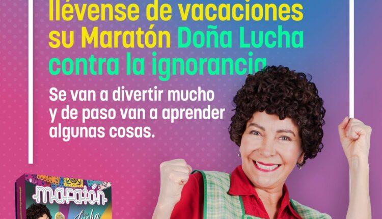 Nuevo juego Maratón Doña Lucha: responde la trivia para ganar un juego de mesa