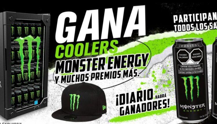 Promoción Oxxo Monster Energy: Gana coolers Monster Energy y premios diarios