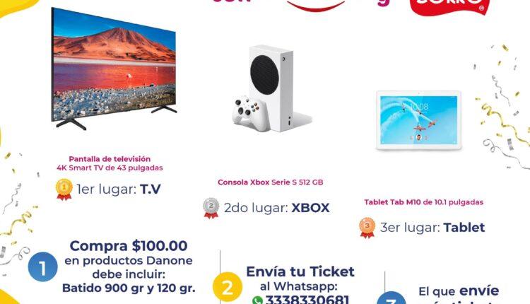 Concurso Zorro Abarrotero y Danone: Gana pantalla, Xbox Series S o tablet