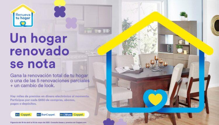 Coppel Renueva tu Hogar 2021: Gana la renovación de tu hogar y dinero electrónico