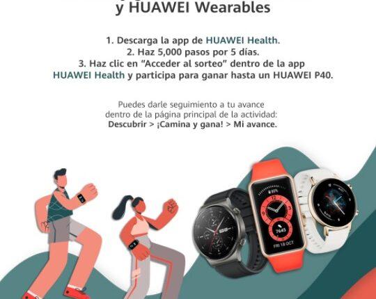 Reto Huawei Health: Gana smartphone P40, relojes Huawei Watch y más