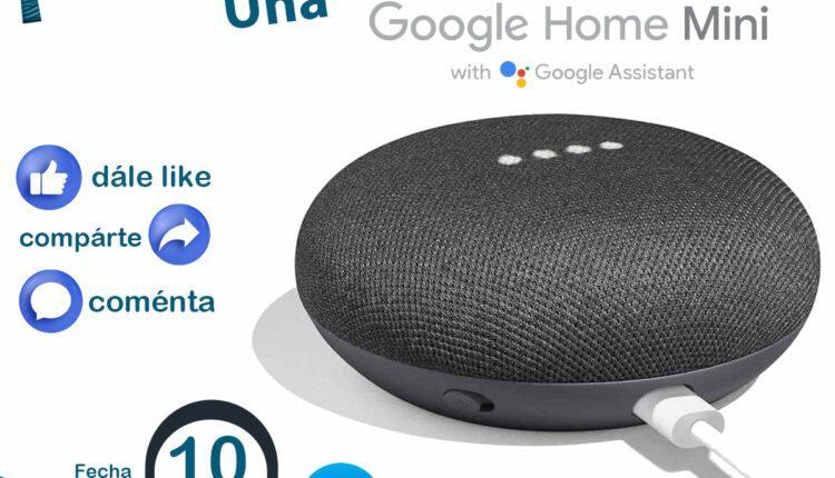 Participa para ganar un Google Home Mini cortesía de Landa Comunicaciones