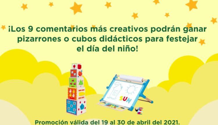 Gana juguetes didácticos en la dinámica del Día del Niño de S-Mart y Nido