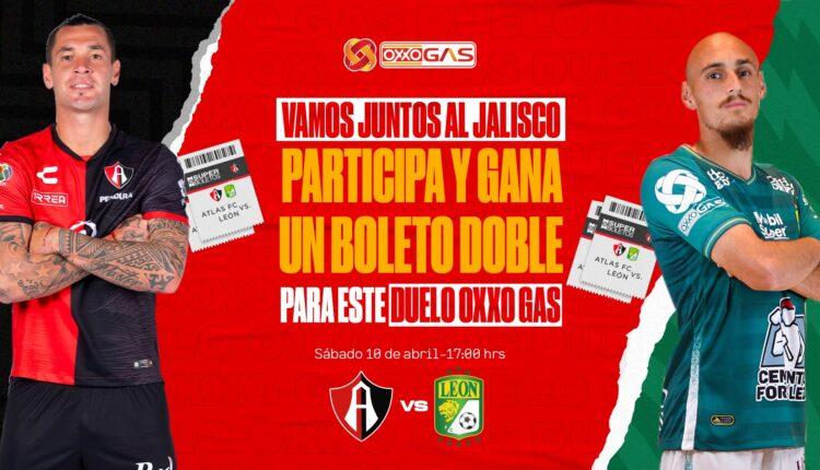 Gana 1 de 14 boletos para el partido de Atlas vs León cortesía de Oxxo Gas