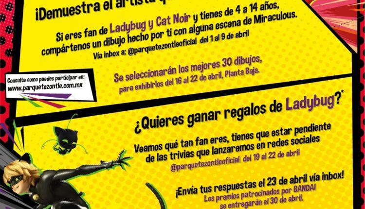 Concurso Miraculous Parque Tezontle: Gana regalos de Ladybug cortesía de Bandai