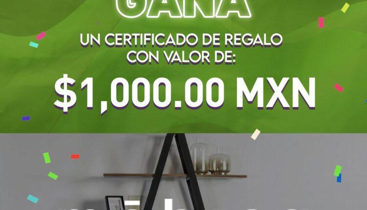 Gana 1 de 5 certificados de regalo de $1,000 para móbica Town Square Metepec