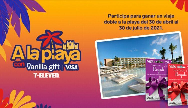 Promo 7-Eleven Visa a la Playa con Vanilla Gift: Gana viaje todo incluido a la playa