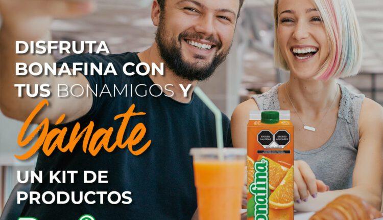 Concurso Bonafina Bonamigo: Gana 1 de 2 dotaciones de productos