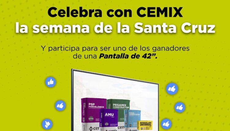 """Concurso Día de la Santa Cruz Cemix: participa para ganar una pantalla de 42"""""""