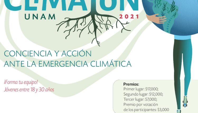 Convocatoria Climatón UNAM 2021: participa por premios de $7,000 a $17,000