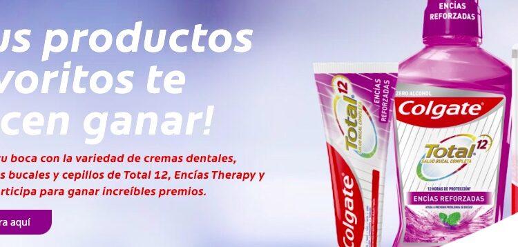Promoción Colgate Total 12 Sonríe y Gana monederos Amazon y más en ganacontotal12.com