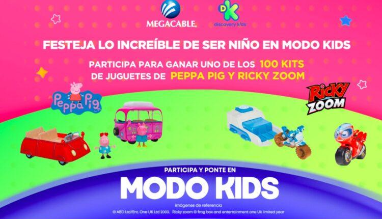 Concurso Discovery Kids y Megacable Modo Kids: Gana kits de Peppa Pig y Ricky Zoom