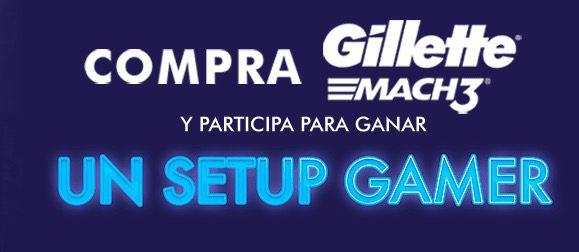 Promoción Gillette Gamer: Gana 1 de 20 setups gamer con valor de más de $20,000 en gillettegamer.com
