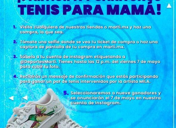 Gana unos tenis para mamá en el concurso de Martí del Día de las Madres