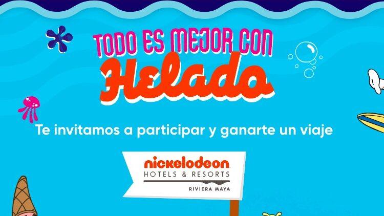 Promo Nutrisa y Nickelodeon Todo es Mejor con Helado: Gana viaje a la Riviera Maya en todoesmejorconhelado.com