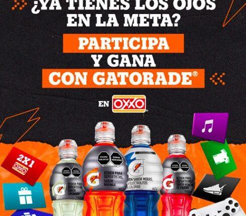 Promo Oxxo y Gatorade Sigue Sudando: acumula puntos y gana premios en siguesudando.com