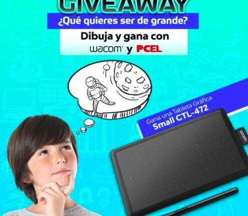 Giveaway del Día del Niño Pcel y Wacom: Gana una tableta de dibujo