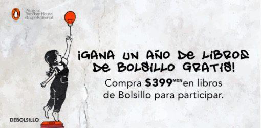 Concurso Penguin Random House: Gana un año de libros Debolsillo gratis