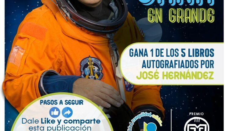 Gana 1 de 5 libros autografiados por el astronauta José Hernández