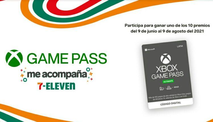 Promo 7-Eleven Xbox Game Pass me Acompaña: Gana pantallas, consolas y más
