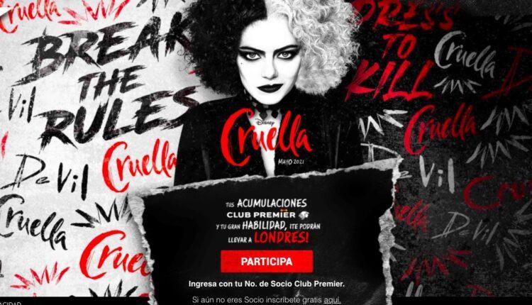 Promo Cruella Aeroméxico Club Premier: Gana viaje a Londres