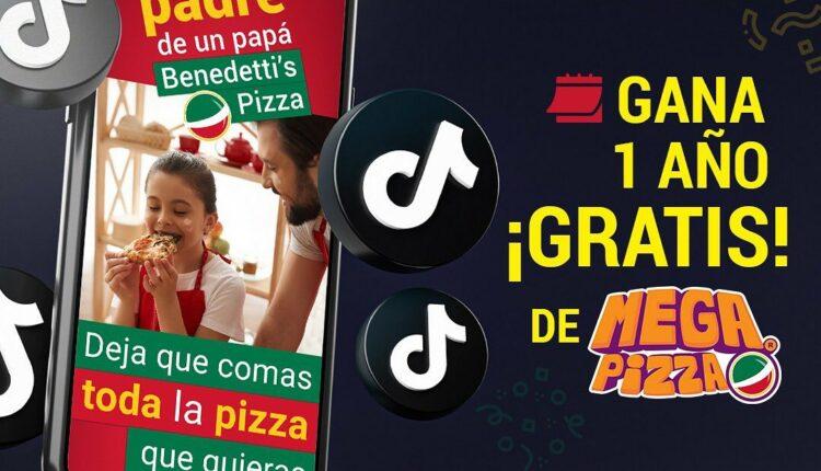Benedettis Pizza concurso Día del Padre 2021: Gana 1 año de Mega Pizza Gratis