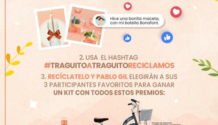 Concurso Bonafont Reciclamos: Gana 1 de 3 kits con bicicleta, tenis, termo y más