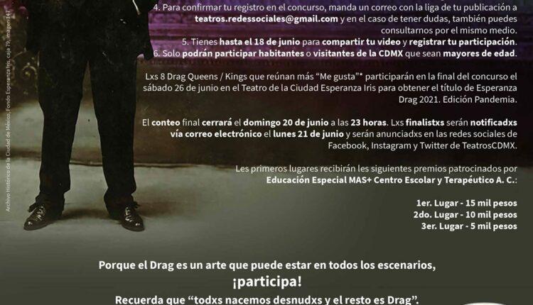 Concurso de Lip Sync Esperanza Drag 2021: Gana premios de $5,000 a $15,000 pesos