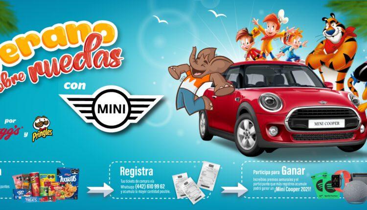 Promoción Oxxo Kelloggs y Pringles Verano sobre Ruedas 2021: Gana un Mini Cooper, consolas y más
