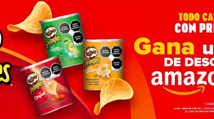 Promoción Pringles 2021: Gana códigos de descuento Amazon