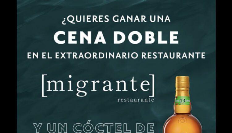 Gana una cena doble en Restaurante Migrante cortesía de Chivas Regal